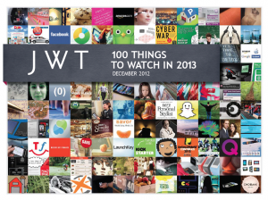 JWT's 100 Things to Watch in 2013